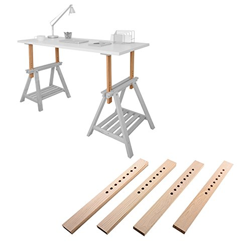 in 6 schritten h henverstellbarer schreibtisch selber bauen. Black Bedroom Furniture Sets. Home Design Ideas
