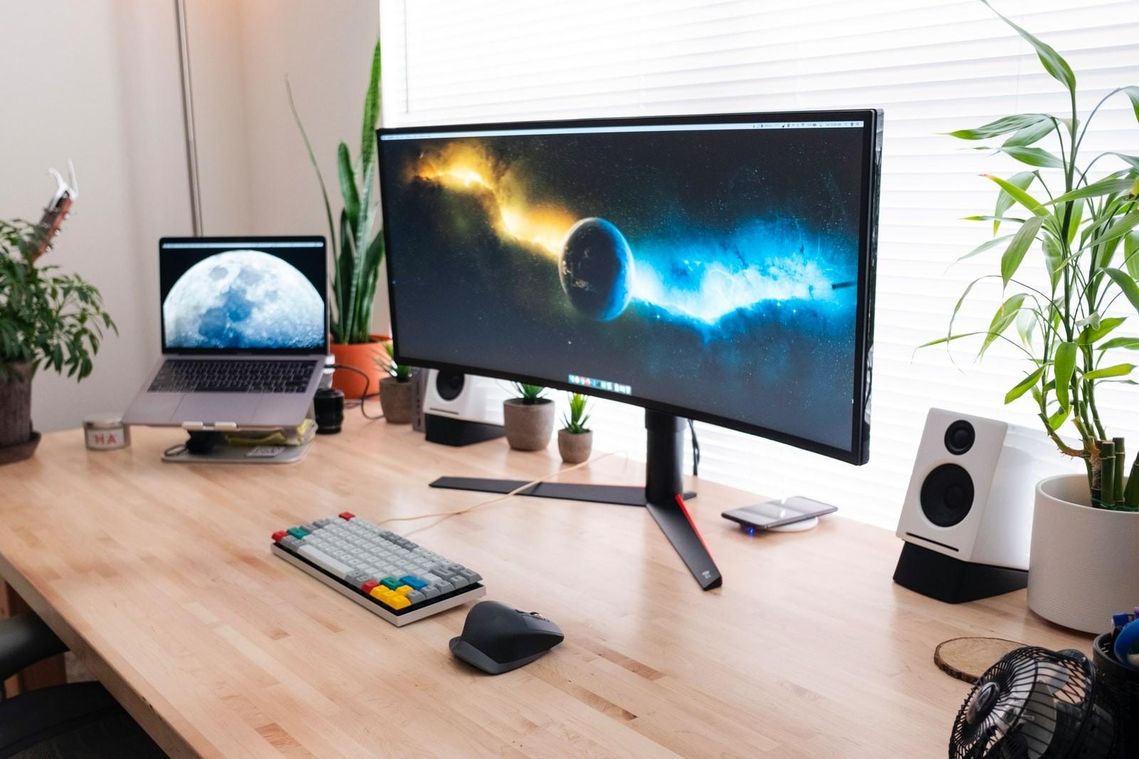 curved monitor für büro geeignet